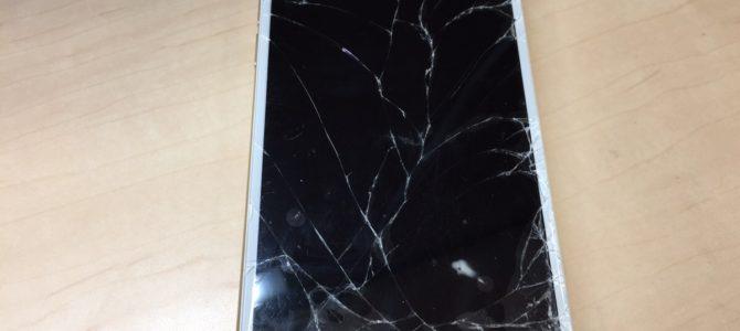iPhone6フロントパネル交換修理 北広島市より『落として割ってしまった』