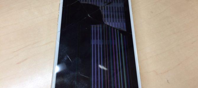 iPhone6sフロントパネル交換修理 札幌市中央区より『階段で落とした』