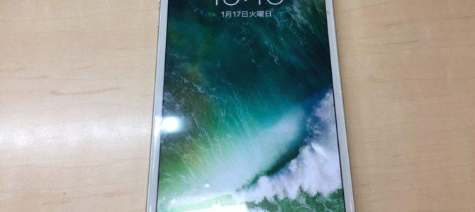 iPhone6+フロントパネル交換修理 江別市より『割れたまま使い続けてた』